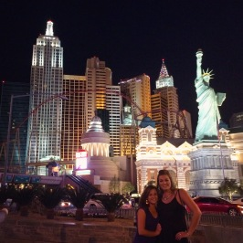 Vegas with my tall fran.